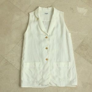 Authentic Chanel linen blouse